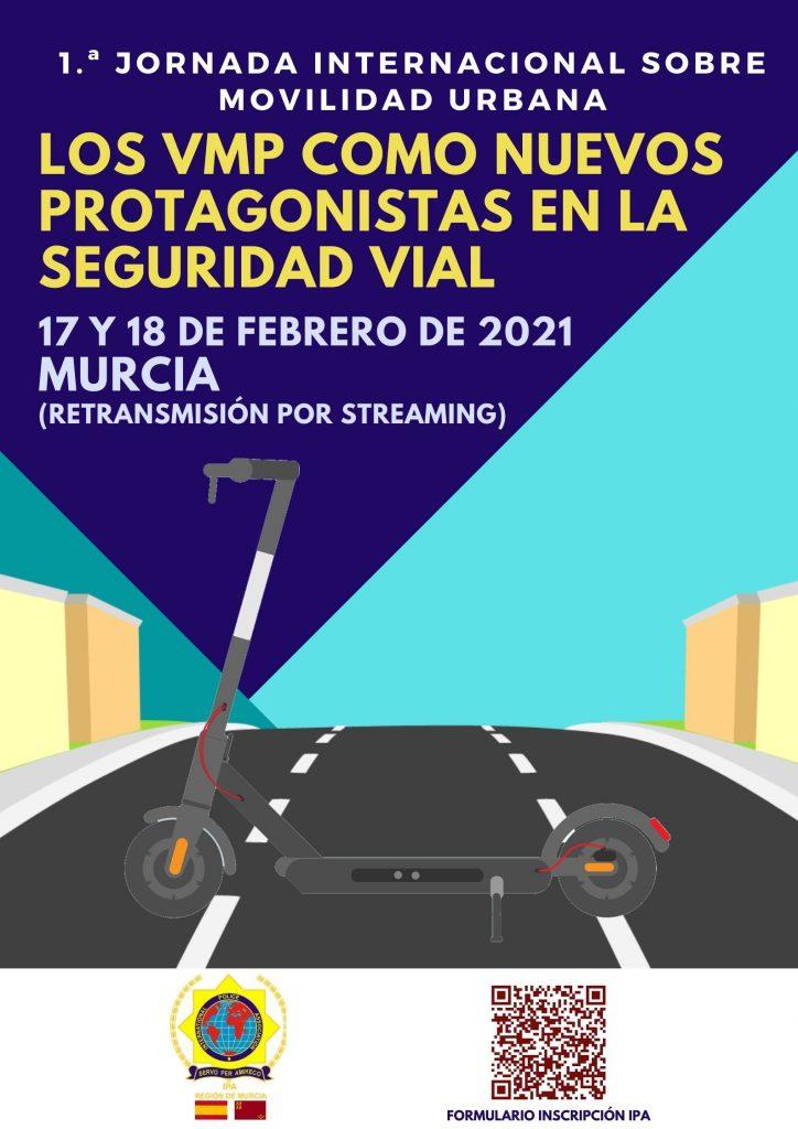 Diseno final 724x1024 - 1.ª Jornada Internacional sobre Movilidad Urbana: los VMP como nuevos protagonistas en la Seguridad Vial